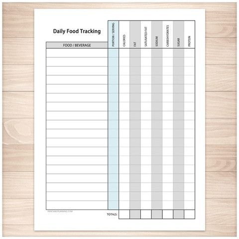 19 best Food/Exercise Logs images on Pinterest Workout planner - food sign up sheet template