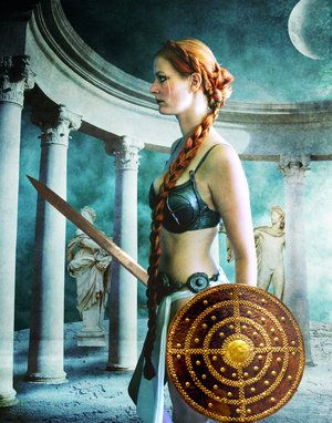 Phoebe was one of the Titans, daughter of Uranus and Gaea. She was married to her brother Coeus, with whom she had Asteria and Leto. The Olympians Apollo and Artemis, twin siblings, were the children of Leto; thus, they were often referred to as Phoebus and Phoebe respectively, taking their alternative names from their grandmother. She was associated with the moon and the Oracle of Delphi, and was considered to be the goddess of prophecy.