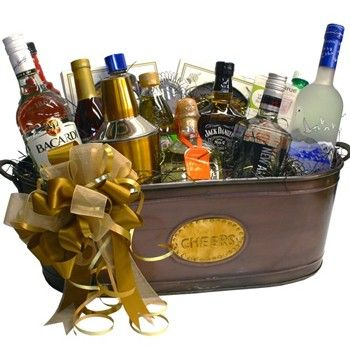 Cocktail Gift Basket, Complete Open Bar