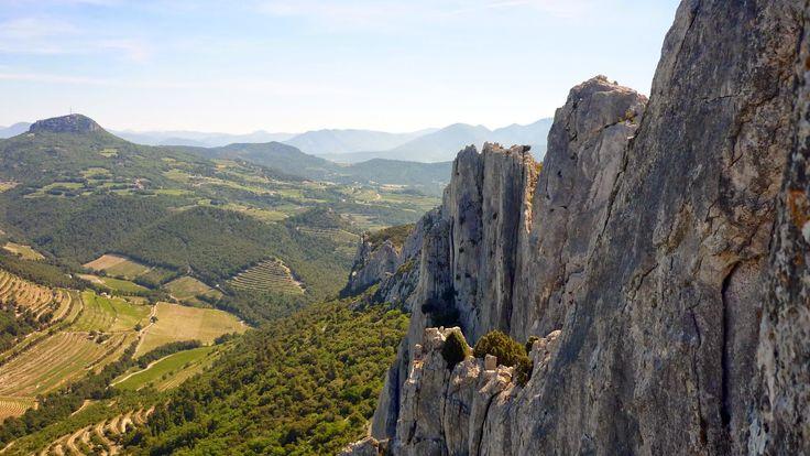 Grimpe aux Dentelles de Montmirail face Nord - France