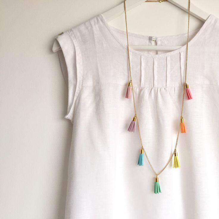 Brand new 'PASTEL RAINBOW' #tassel #necklace just listed! #zetaemme #etsyuk