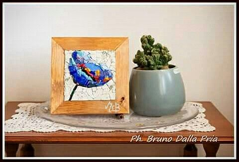 #mosaic #wood #flower