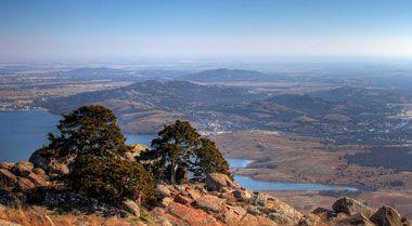 View from atop Mt Scott, Witchita Mountains, Oklahoma