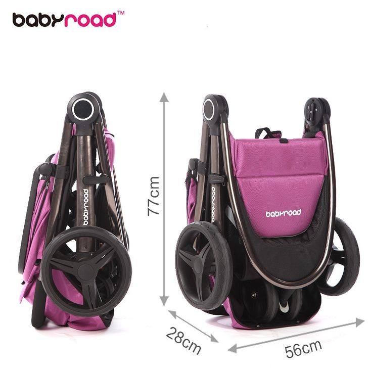 262.40$  Buy here - http://ali3t3.worldwells.pw/go.php?t=32714136864 - Babyroad fashion luxury baby stroller portable folding tricycle hand cart 262.40$