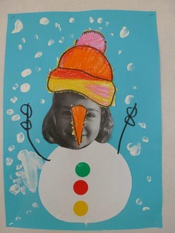 Ninot de neu amb foto. Escola Puig d' Arques