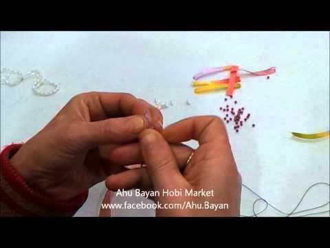 Ahu Bayan Hobi Market - Kurdeleli oya modeli yapımı - facebook.com/Ahu.Bayan