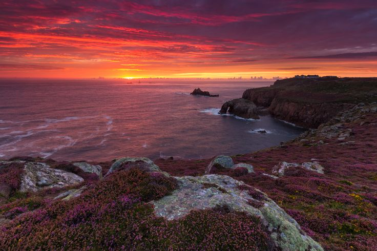 Land's End at Sunset by Andrew Turner #cornwall