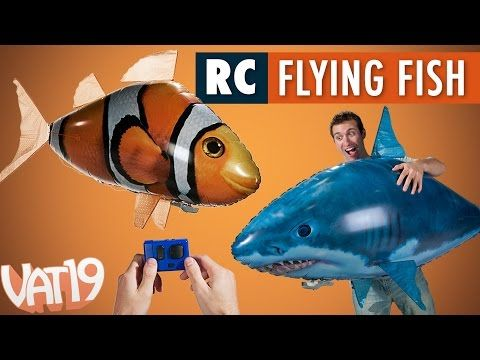 Air Swimmers Remote Control Flying Fish - YouTube