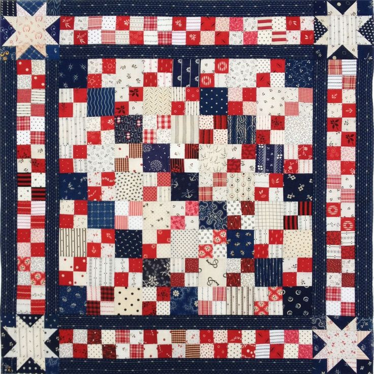 17 best images about red white and blue quilts on pinterest for Red door design quilts