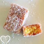 Sugar Free Kids Pink Lamingtons Grain Free Australia Day. 150x150 Pink Lamington recipe (Sugar and Gluten Free)