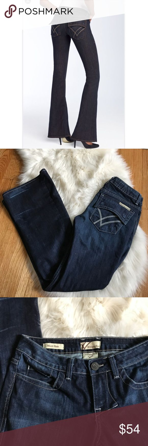 William Rast Belle Flare Jeans William Rast Belle Flare Jeans. Dark wash and great flare. Awesome pocket details. William Rast Jeans Flare & Wide Leg