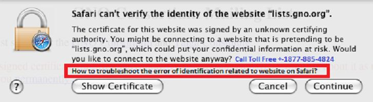 """""""How to troubleshoot the error of identification related to website on Safari? Contact 24 Hours Safari Tech Support Phone Number for Help. Dial Safari Customer Care Toll Free Number +1-877-885-4824 for Customer Service in USA & Canada. You can even connect to them for gaining more info about the Apple Safari browser."""