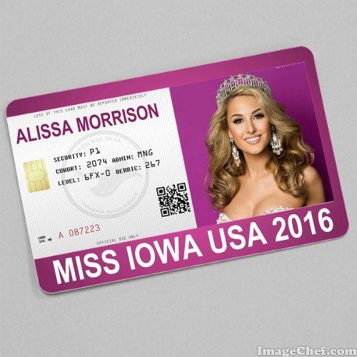 Alissa Morrison Miss Iowa USA 2016 card
