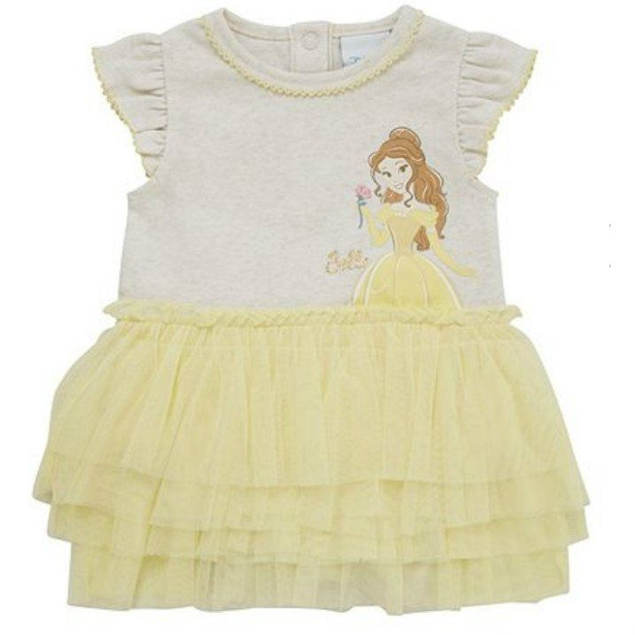 Disney Baby Beauty And The Beast Belle Tutu Bodysuit