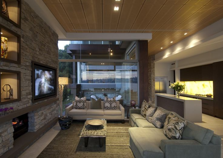 Cool Living Room Interior Ideas At Modern Waterfront House Design By Bruce Stafford Architects Photo