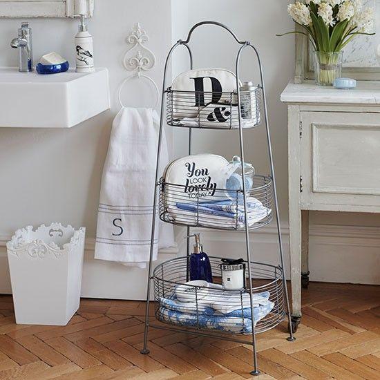 Bathroom baskets | Small bathroom ideas | PHOTO GALLERY | Country Homes & Interiors | Housetohome.co.uk