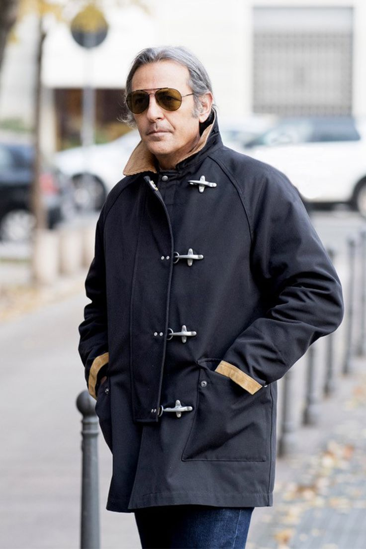 Filippo La Mantia perfectly embracing the metropolitan mood in his Limited Edition Fay 4 Ganci Jacket.