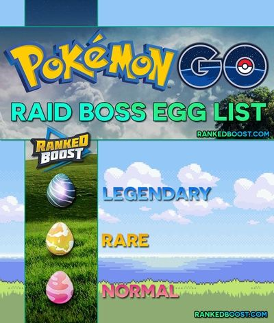 Pokemon GO Raid Boss Egg List | Normal, Rare & Legendary Raid Egg. Best Pokemon For Attacking Normal and Rare Egg Raid Bosses