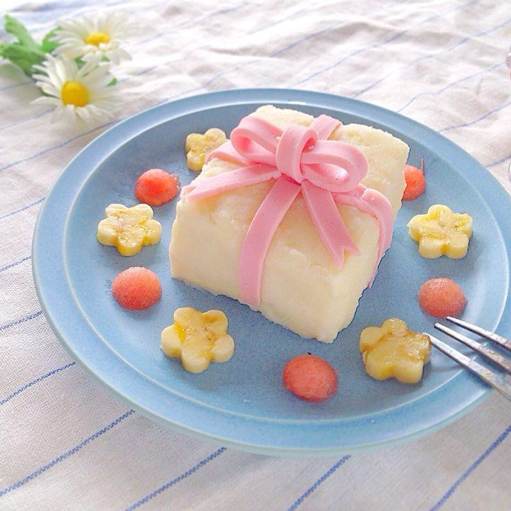 なほ's dish photo プレゼントサンド 息子 歳の朝ごはん | http://snapdish.co #SnapDish #レシピ #キャラ弁 #朝ご飯 #離乳食/幼児食 #サンドイッチ #簡単料理