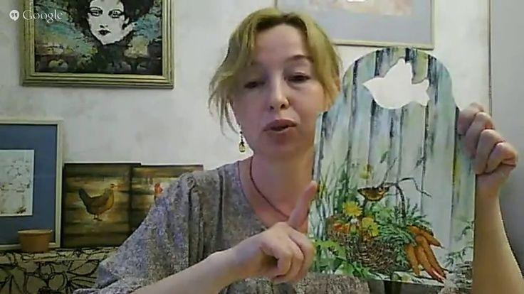 Раушания Нуретдинова.  Деревенский стиль. Готовим фон под салфетку.