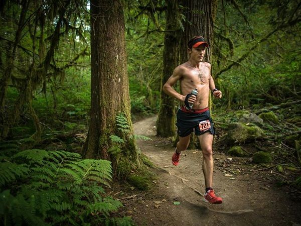 Arc'teryx athlete Adam Campbell at the Squamish 50 trail ultra (Photo by Brian Goldstone)