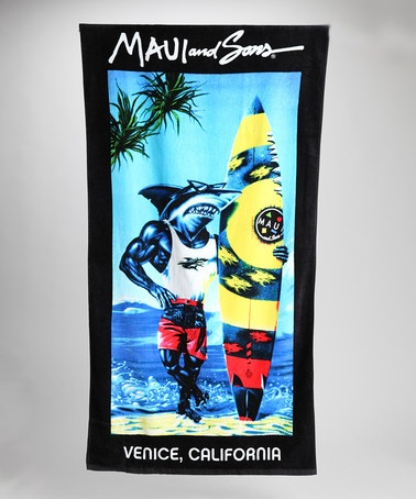 Blue Beach Towel by Maui and Sons