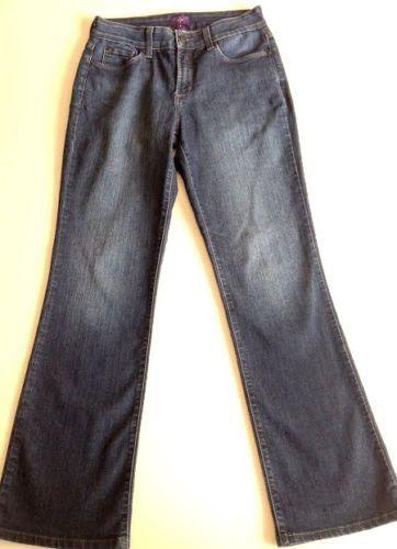 NYDJ-Womens-4-Bootcut-Jeans-Stretch-Lift-Tuck-Technology-Mid-Rise-USA-Made-EUC