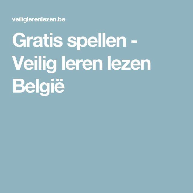 Gratis spellen - Veilig leren lezen België