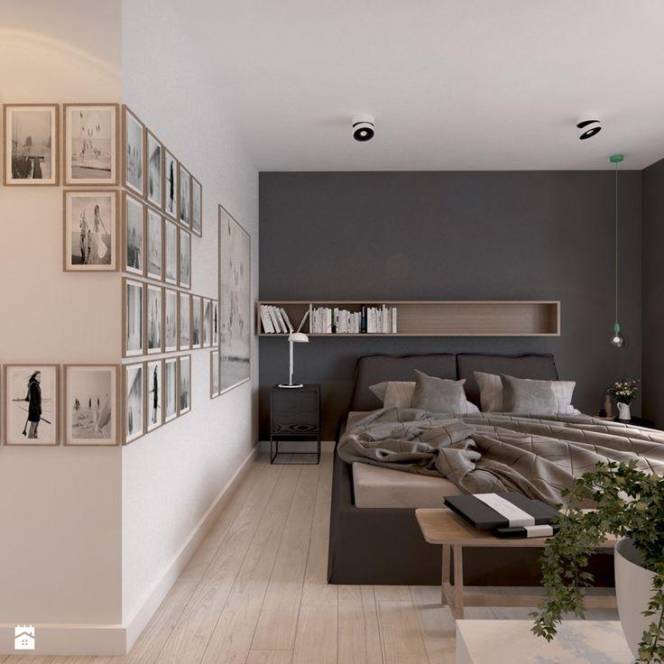 Dom we Francji - Duża sypialnia małżeńska, styl nowoczesny - zdjęcie od COI Pracownia Architektury Wnętrz