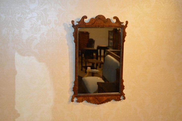 A Walnut 18th Century Style Antique Wall Mirror