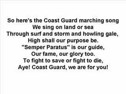 US Coast Guard - Marching Song, via YouTube.
