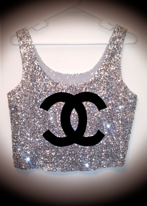 Chanel Sequins Tank <3<3 I would wear it with a maxi or high waisted pants