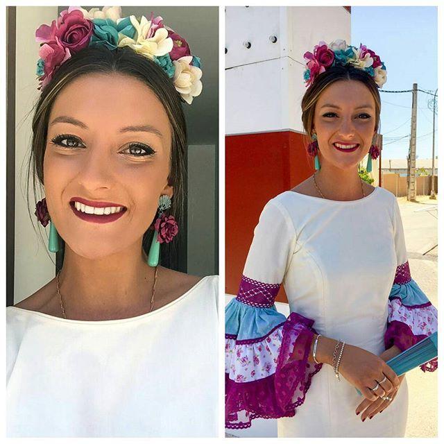 Preciosas nuestras #flamencasToscana, seguimos recibiendo fotos así de bonitas ❤ Gracias Aída, estás ideal!  #Buenosdías #BeToscana  #ToscanaTocados
