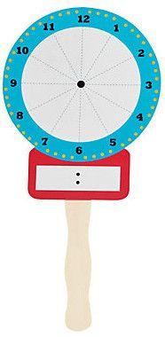 Write & Wipe Clock Paddles