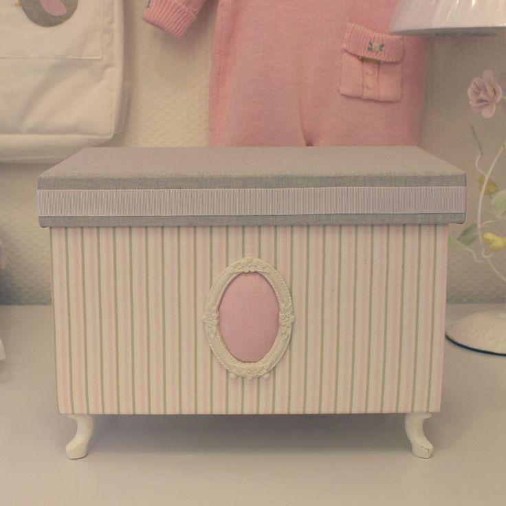 Caixa para Quarto de Bebê Retangular Primavera Rosa