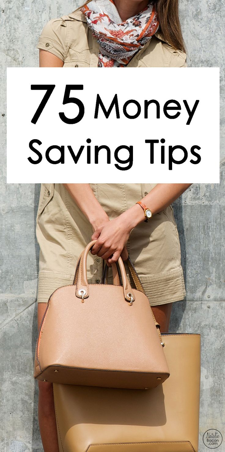 75 Money Saving Tips by Natalie Bacon