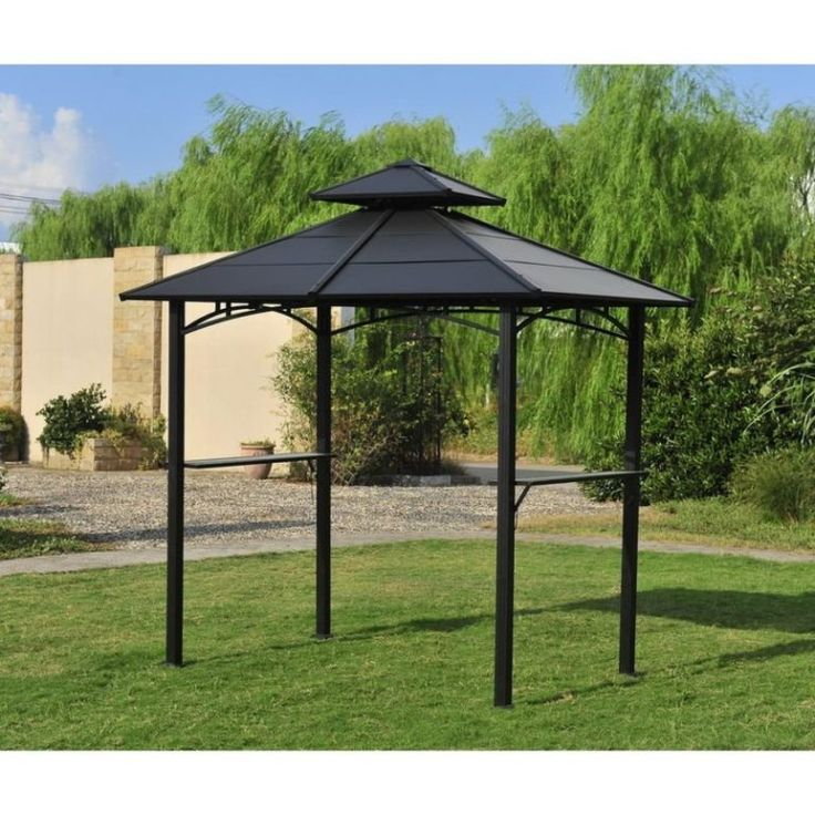 Exterior Glamorous Hardtop Grill Gazebo And Outdoor Furniture From Anything About