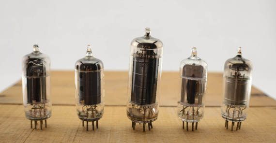 5 Vintage Vacuum Tubes - Electronic Parts Radio Tubes TV Tubes Amplifier Tubes Industrial Parts Collage Steampunk Art Supply E5-1 by… #etsy