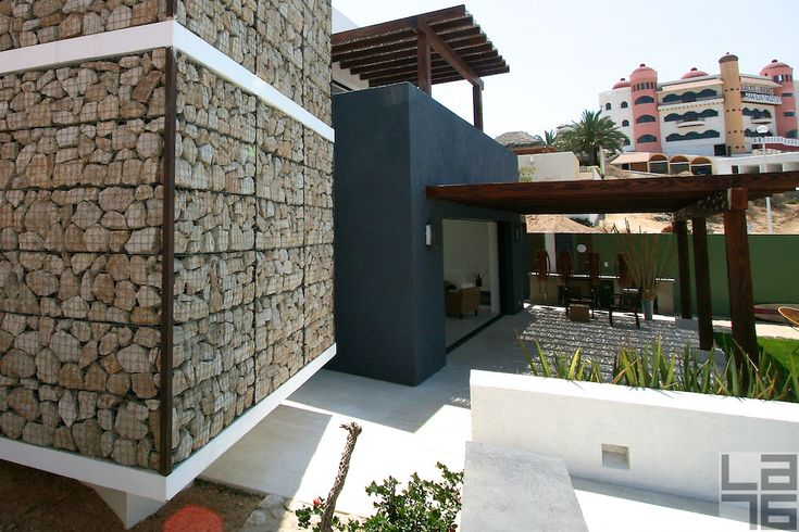 Casa Gabión is a contemporary Mexican home, designed by a renowned Mexican architect Javier Gutierrez Toscano. His sustainable and ecological homes have brought him awards on national and international scale. Located in beautiful Fonatur area of San Jose del Cabo, in Baja California Sur, Mexico, Casa Gabión makes it possible for you to enjoy all the pleasures of this beautiful town. It's location in the urban center of the town allows you to explore historic downtown, shopping area…