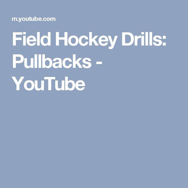 Field Hockey Drills: Pullbacks - YouTube