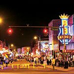 Nightlife in Memphis, Beale Street    Blues music on every corner.