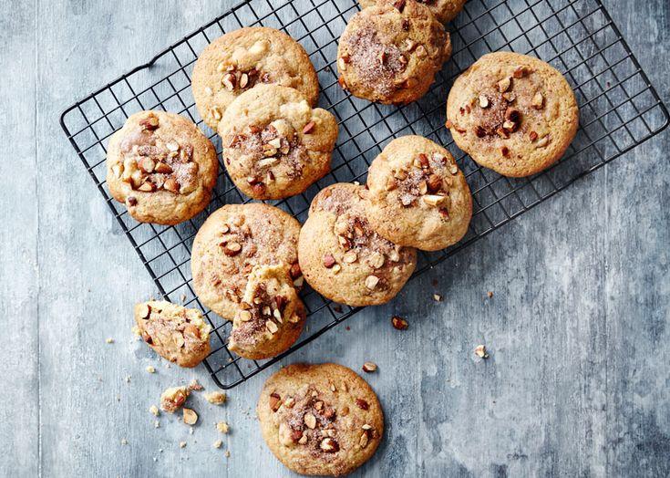 Cookies med marcipan, nougat & kanel