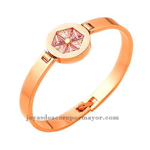 brazaletes dorados de joyeria para damas online