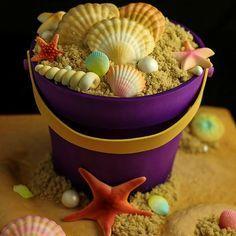 Beach Sand Bucket Cake @cakerschool