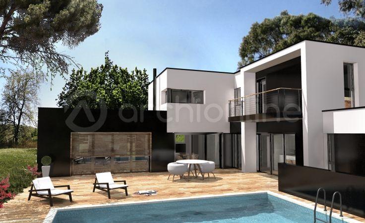 13 best maison images on Pinterest Modern homes, Archi design and - Plan De Maison Moderne
