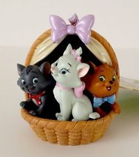 Disney Store ARISTOCATS Marie 3 Cats In Basket NEW Christmas Ornament With Tag