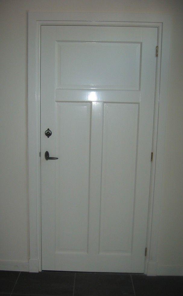 Toiletdeur Architraaf afgeschuind met rechte vlakke neut