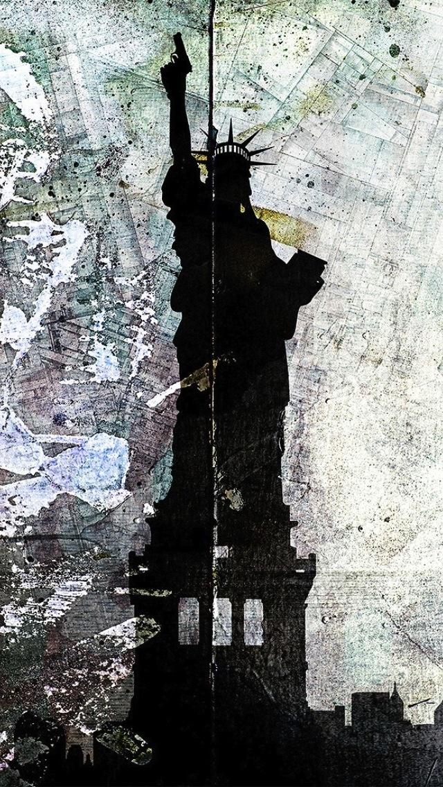 自由の女神 iPhone5 スマホ用壁紙