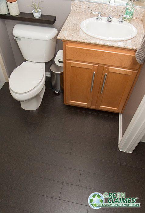 midnight cork flooring for the bathroom
