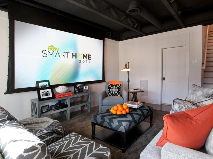 basement rec room pictures from hgtv smart home large projector